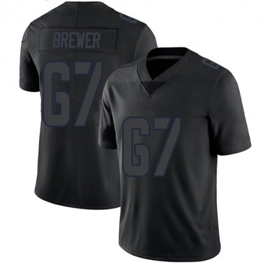 Men's Nike Los Angeles Rams Chandler Brewer Jersey - Black Impact Limited