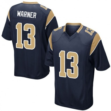 Men's Nike Los Angeles Rams Kurt Warner Team Color Jersey - Navy Game