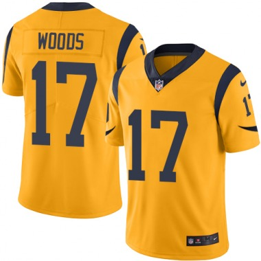 Men's Nike Los Angeles Rams Robert Woods Color Rush Jersey - Gold Limited
