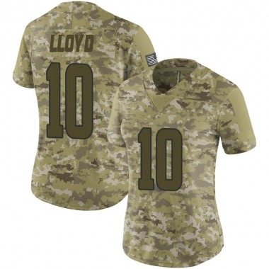 Women's Nike Los Angeles Rams Johnathan Lloyd 2018 Salute to Service Jersey - Camo Limited