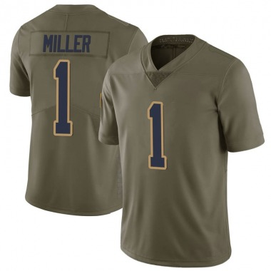 Youth Nike Los Angeles Rams Brock Miller 2017 Salute to Service Jersey - Green Limited